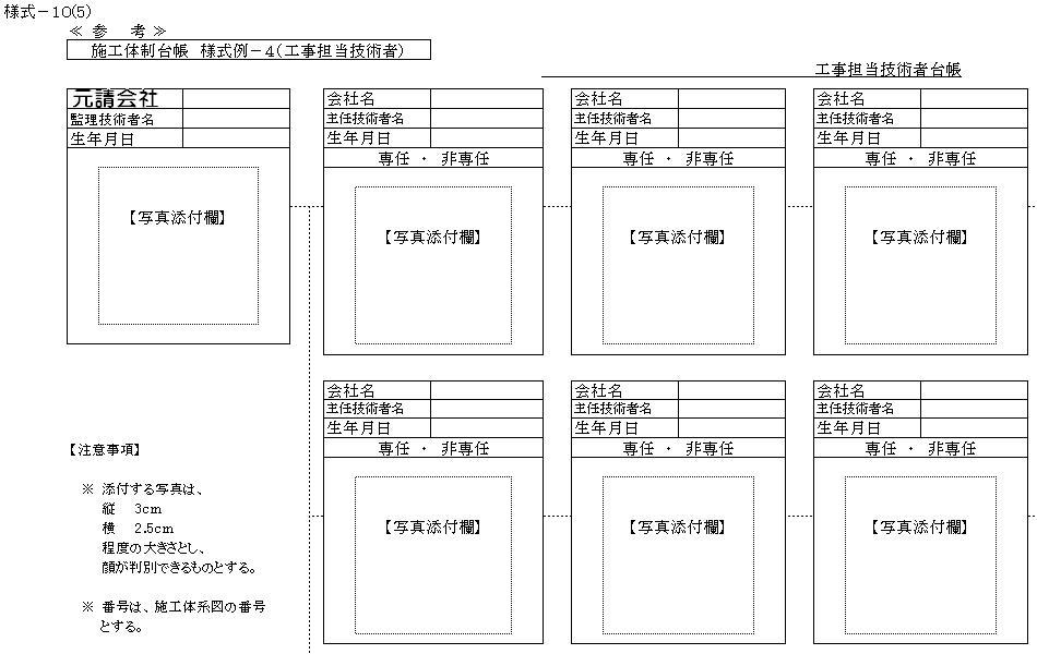 国土 省 交通 体制 施工 台帳